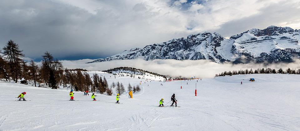 Scuola sci nell'area sciistica dell'Alto Adige